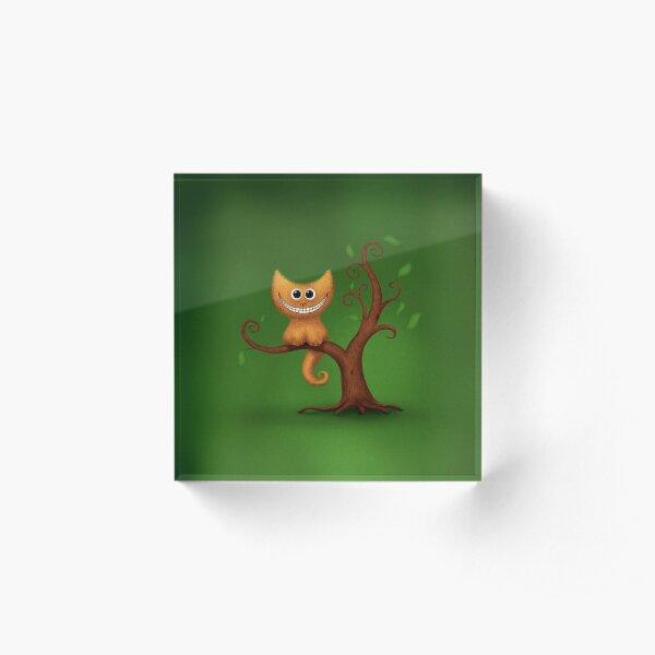 A Cheshire Kitten Acrylic Block