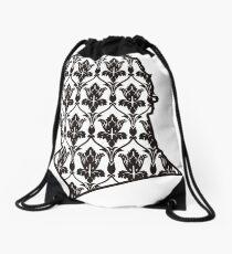 Sherlock - 221b Wallpaper Drawstring Bag