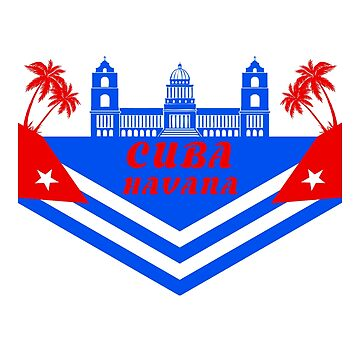 Cuba Havana Flag National Flag Palace Palm Tree Gift by Rocky2018