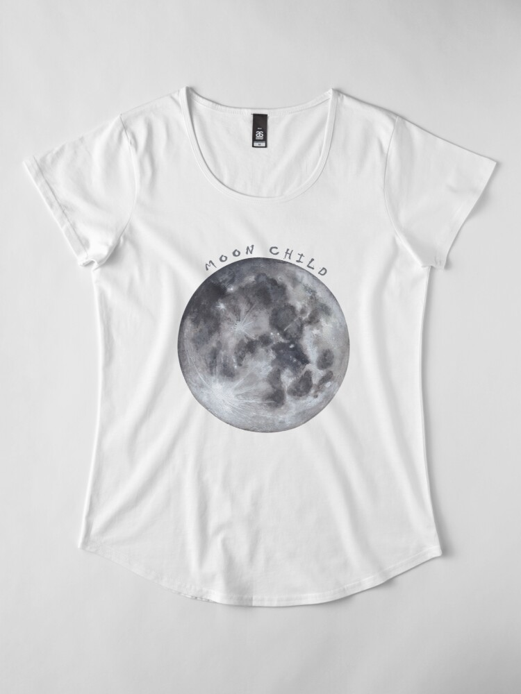 Alternative Ansicht von Vollmond Premium Rundhals-Shirt