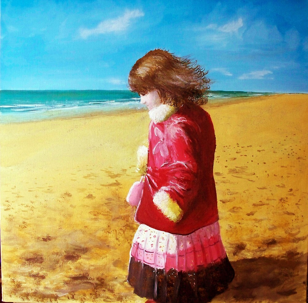 madison on the beach by andy tetlow