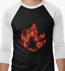 PokeDoodle - Fire Baseball ¾ Sleeve T-Shirt