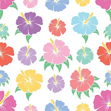 Hibiscus Flower Pattern by Fangpunk