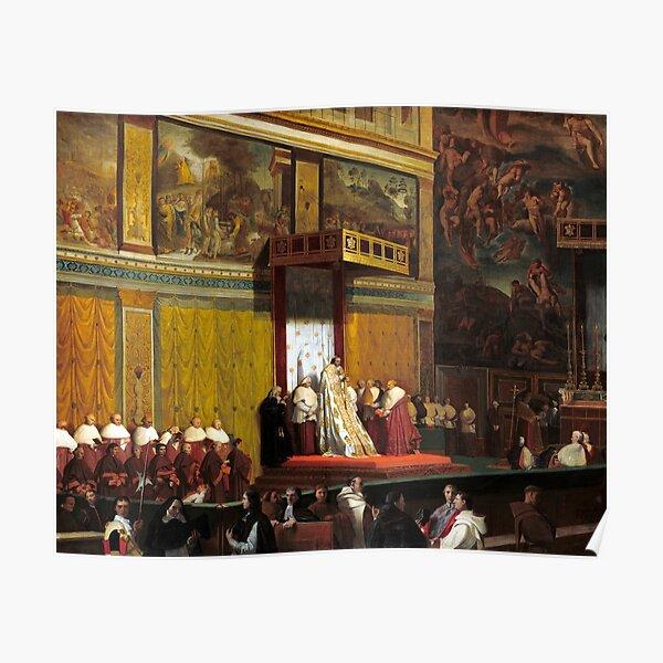 Jean-Auguste-Dominique Ingres Pope Pius VII in the Sistine Chapel Poster