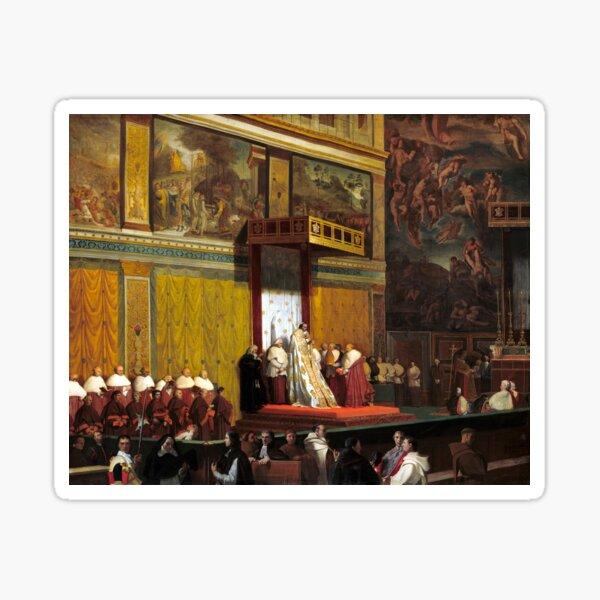 Jean-Auguste-Dominique Ingres Pope Pius VII in the Sistine Chapel Sticker