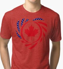 Canadian American Multinational Patriot Flag Series 2.0 Tri-blend T-Shirt