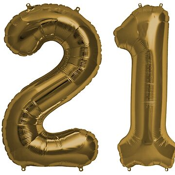 Bronze 21st Birthday Metallic Helium Balloons Numbers by Birthdates