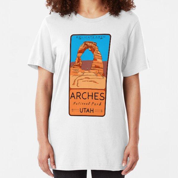 Delicate Arch, Arches National Park, Moab, Utah Slim Fit T-Shirt