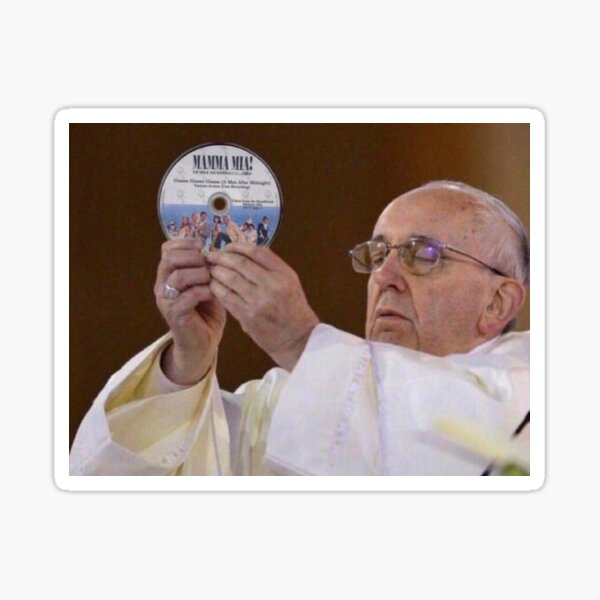 Mamma Mia Pope Meme Sticker
