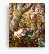 Of Mice and Owls Mouse Guard Fan Art Canvas Print