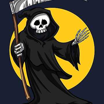 Grim Reaper Skeleton Death With Scythe Scary Halloween  by underheaven