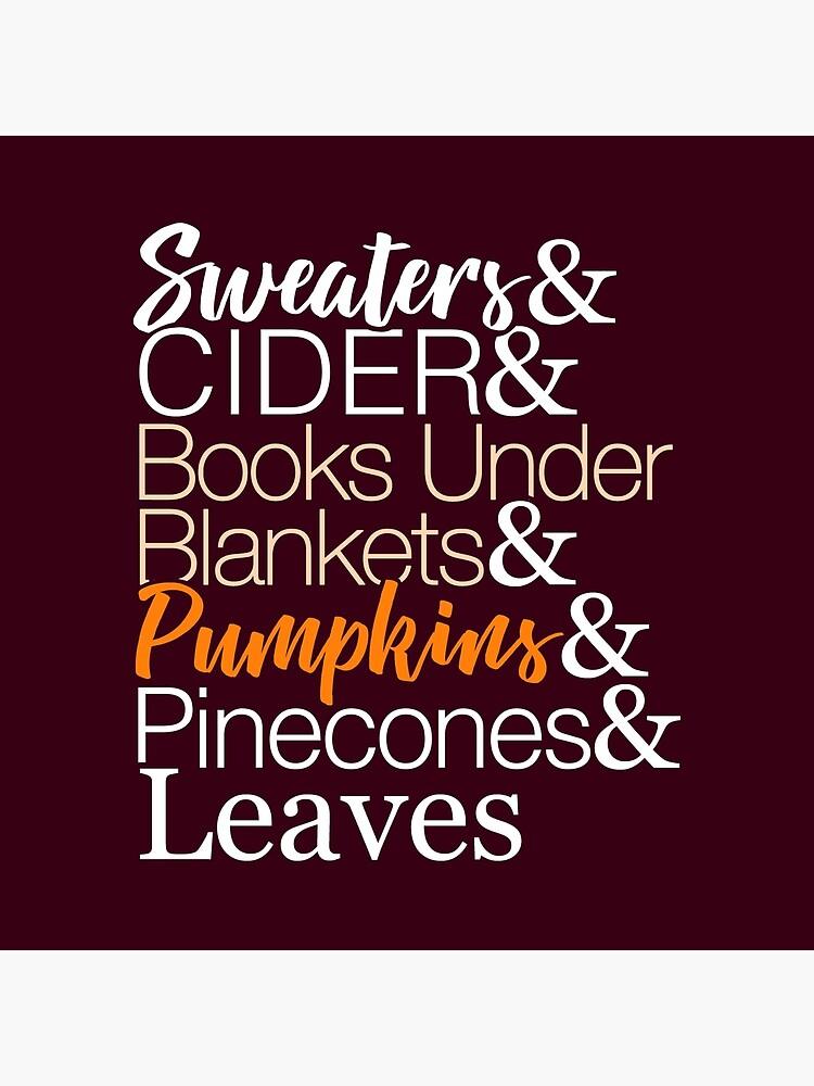 Herbstliste T-Shirt für den Herbst von BootsBoots