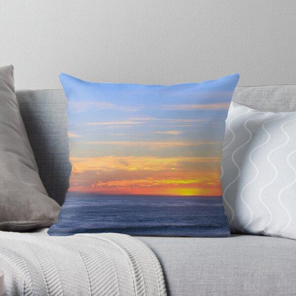 Spectacular sunset over the ocean Throw Pillow