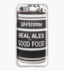 beer barrel real ales good food slogan iPhone Case/Skin