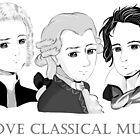 Bach - Mozart - Beethoven im Chibi-Style von Bach4you