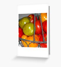 Basket of Tomatoes Greeting Card