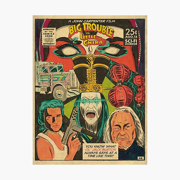 Big Trouble In Little China Movie Poster Photographic Print