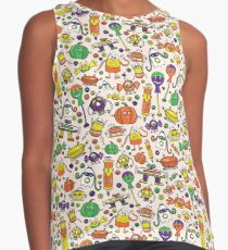 Monster Halloween Candy Bots // Fall Holiday Themed Candy Shaped Robots // Nerdy Halloween Decor + Apparel Contrast Tank
