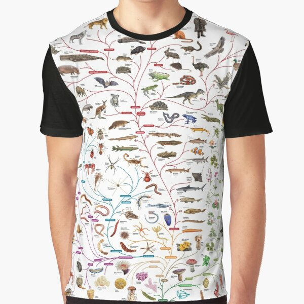 Darwinian Evolution Tree of Life Graphic T-Shirt