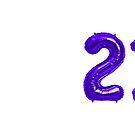 Purple 21st Birthday Metallic Helium Balloons Numbers by Birthdates