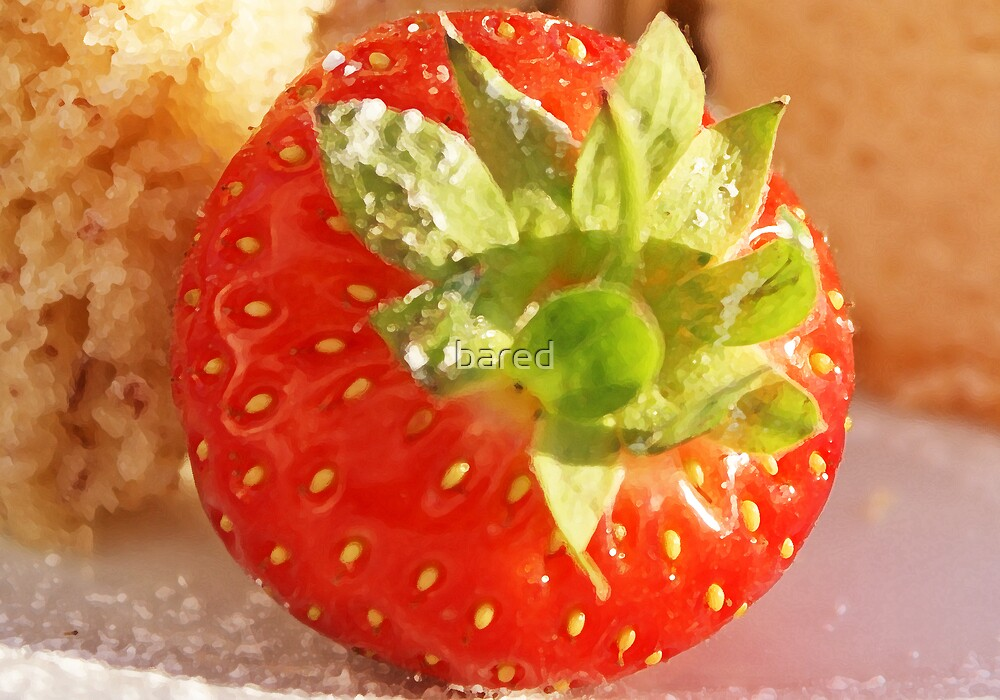 Strawberries and Cake by bared