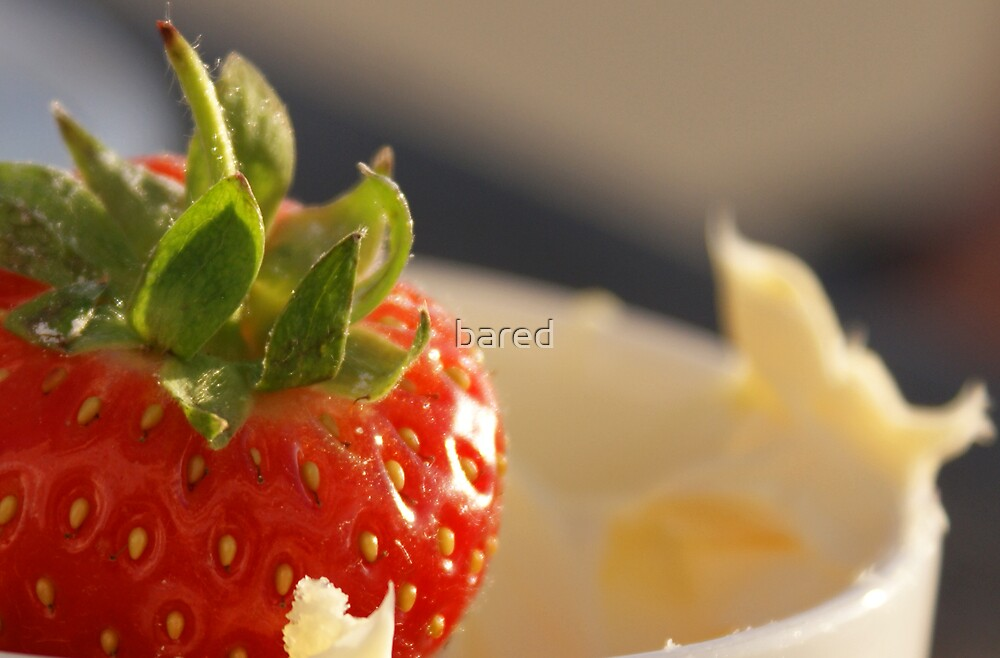 Strawberries and cream by bared