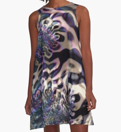 Panther Stripes A-Line Dress