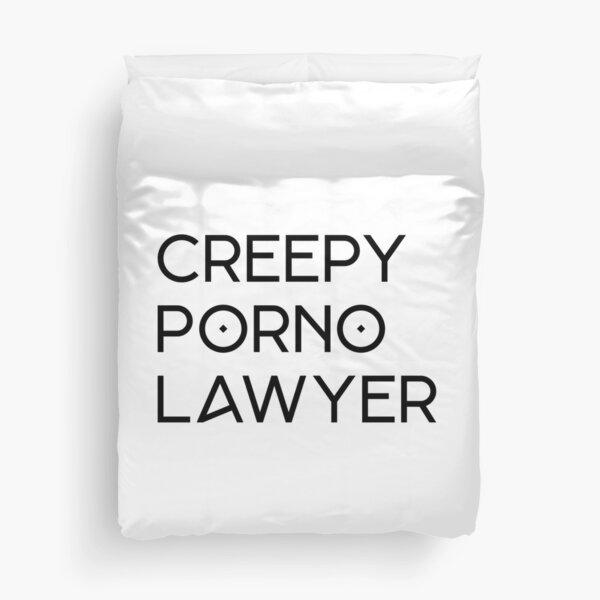 Creepy Porno Lawyer Housse de couette