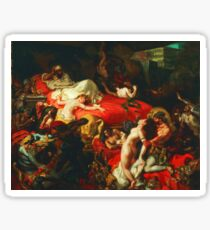 Ferdinand Victor Eugene Delacroix - The Death of Sardanapalus ⛔ HQ quality Sticker