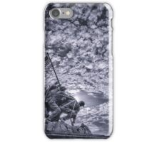 Iwo Jima Memorial Sunrise Cyanotype iPhone Case/Skin