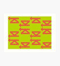 ziG-zAG GLiDER Art Print