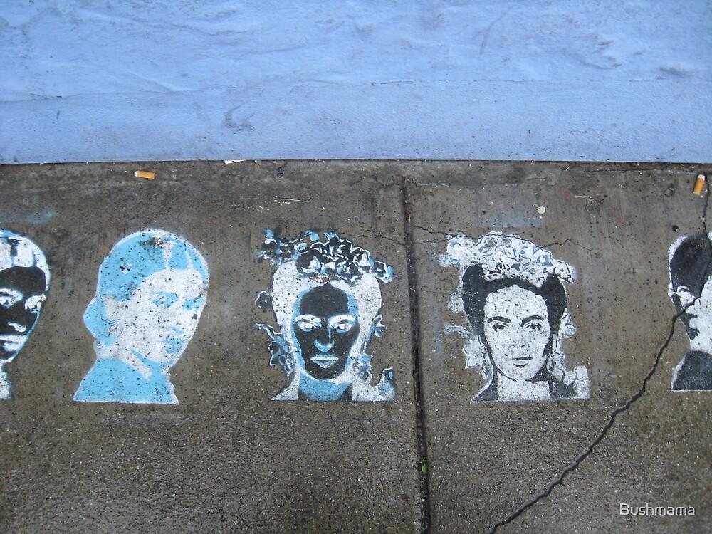 Frida #1 street art by Bushmama