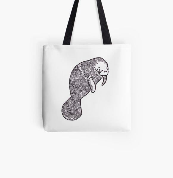 Manatee All Over Print Tote Bag