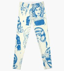 Babes & Bouffants Bleu Leggings