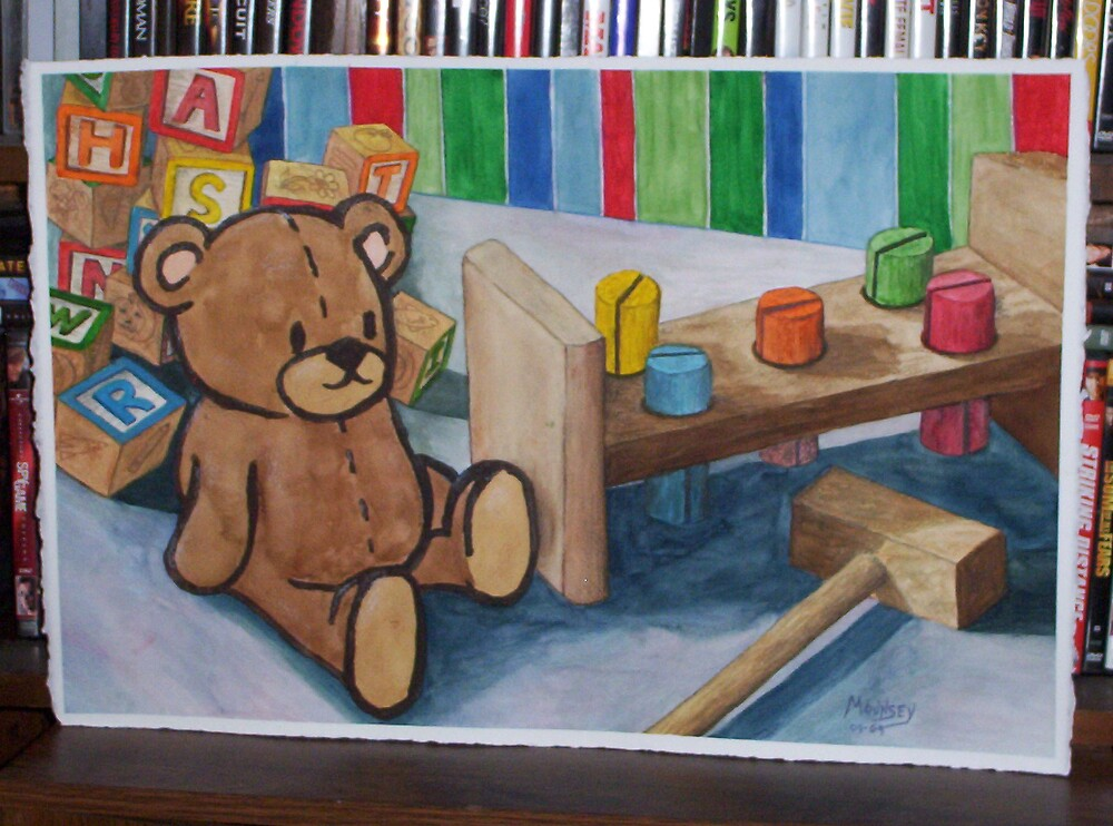Toys - The Bear and the Work Bench by David Mounsey