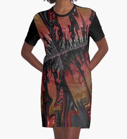 Molten Lava Graphic T-Shirt Dress