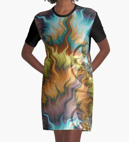 Bear's Fur Graphic T-Shirt Dress