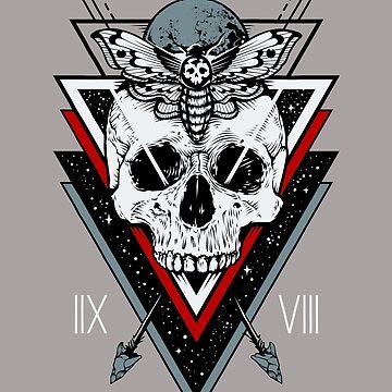 Skull Moth Stars by machmigo