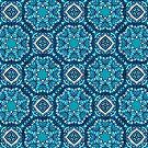 Turquoise Moroccan Tile Pattern by blueskywhimsy