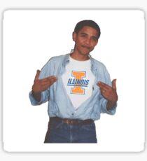 UIUC Obama Supreme Tshirt Sticker