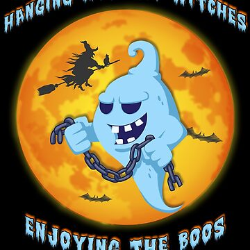 Witches Ghost Boos Halloween Funny Ghost Boo Party Outfit Teacher Costume Here For The Boos by bulletfast