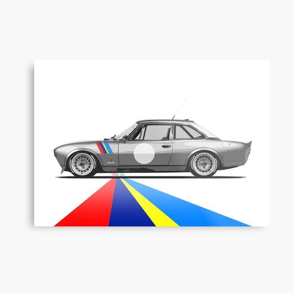 Peugeot 504 Coupé   Café Racer Metal Print