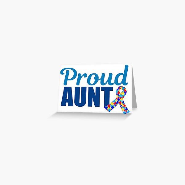 Autism Button Badges Proud Aunt of a child with autism