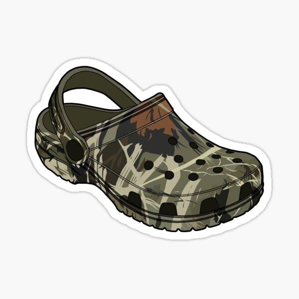Crocs camo clog Shoe Sticker