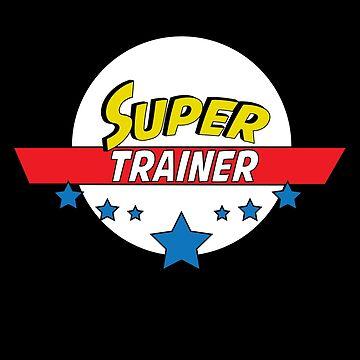 Super trainer, #trainer  by handcraftline
