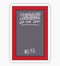 Bob's Burger Of The Day Sticker