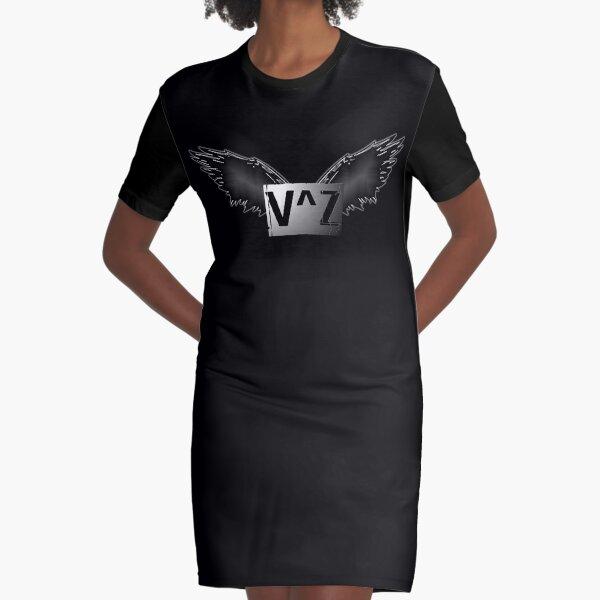V^Z Brand Logo Graphic T-Shirt Dress