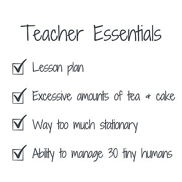 Teacher Essentials Bag by MummyOfFour