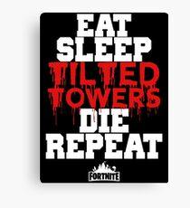 Eat Sleep Tilted Towers v3 Canvas Print