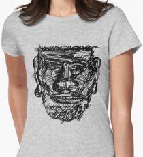 dabnotu_scribbleheadchin Women's Fitted T-Shirt
